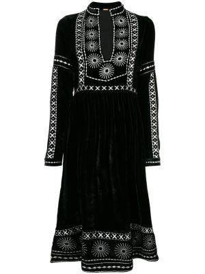 Платье с разрезом и отделкой Dodo Bar Or. Цвет: чёрный
