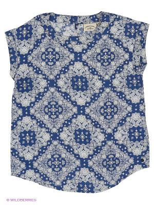 Блузка Finn Flare. Цвет: темно-синий