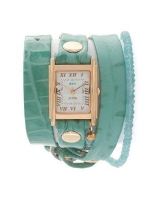 Часы La Mer Collections Stones Apatite Aqua Croco. Цвет: голубой