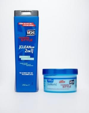 Подарочный набор для укладки волос  Extreme Style Rework Putty - Синий VO5. Цвет: синий