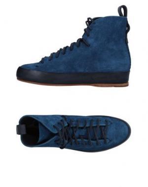 Высокие кеды и кроссовки FEIT. Цвет: синий