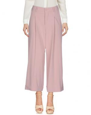Повседневные брюки BERNA. Цвет: розовый