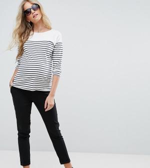 New Look Maternity Узкие брюки с эластичной вставкой для живота. Цвет: черный