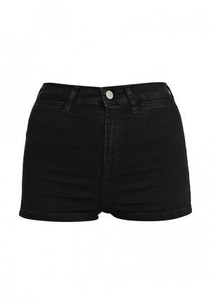 Шорты джинсовые Topshop. Цвет: черный