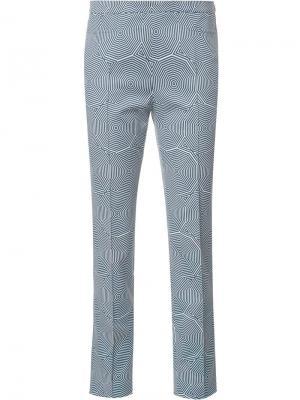 Укороченные брюки Franca Akris Punto. Цвет: синий