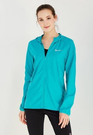 Ветровка Nike. Цвет: бирюзовый