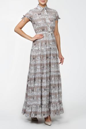 Платье MSW ATELIER. Цвет: серый