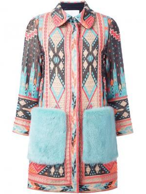 Пальто с этническим узором Giada Benincasa. Цвет: многоцветный