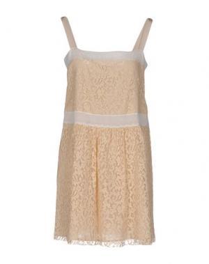 Короткое платье ...À_LA_FOIS.... Цвет: бежевый