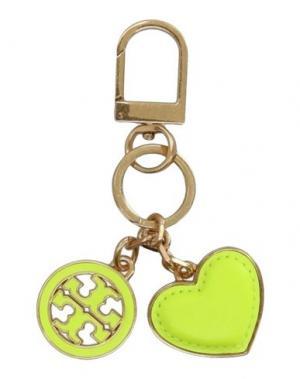 Брелок для ключей TORY BURCH. Цвет: кислотно-зеленый