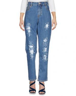 Джинсовые брюки MICHELA MII. Цвет: синий