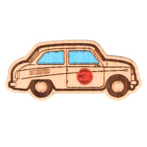 Значок  Х Waf-waf Машинка Biege Запорожец. Цвет: бежевый