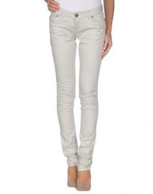 Повседневные брюки TIMEOUT. Цвет: светло-серый