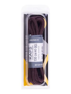 Шнурки вощеные толстые коричневые 150 см KAPS. Цвет: коричневый