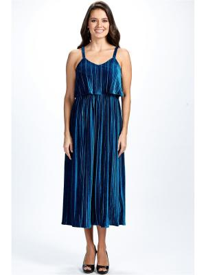 Платье из плиссированного бархата Self Made