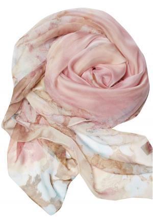Платок MY STYLE. Цвет: зеленый с рисунком, розовый с рисунком