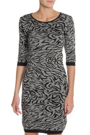Классическое платье с рукавами 3/4 Sabra. Цвет: серый