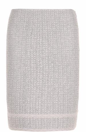 Буклированная юбка-карандаш St. John. Цвет: белый