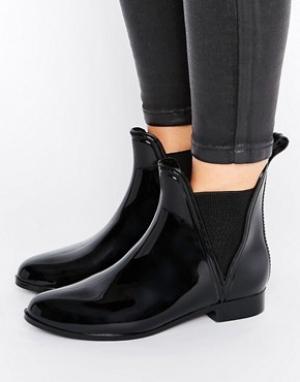 ASOS Резиновые ботинки челси GAME. Цвет: черный