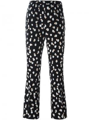 Расклешенные брюки с пятнистым принтом Altuzarra. Цвет: чёрный