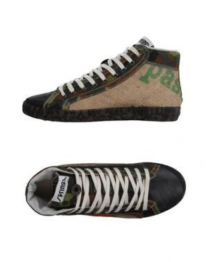 Высокие кеды и кроссовки SPRINGA. Цвет: зеленый-милитари