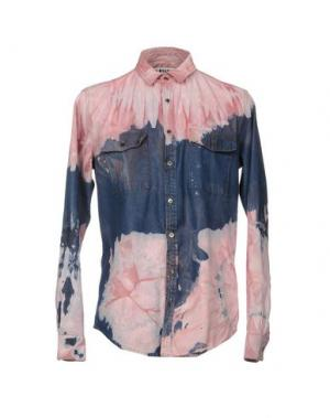 Джинсовая рубашка MSGM. Цвет: розовый