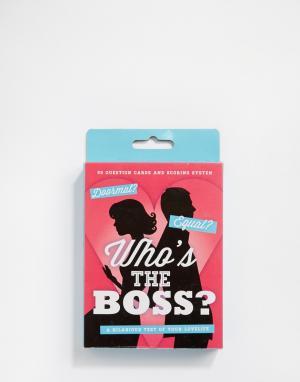 50FIFTY Игра-викторина Whos the Boss. Цвет: мульти