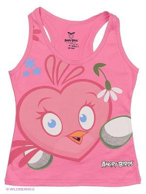 Майка ANGRY BIRDS. Цвет: розовый
