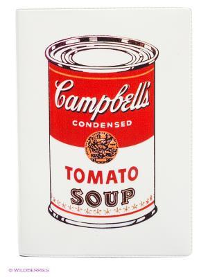 Обложка для автодокументов Tomato soup Mitya Veselkov. Цвет: белый, красный