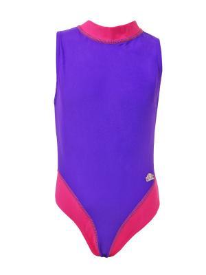 Слитные купальники RONTIL. Цвет: темно-фиолетовый,фуксия