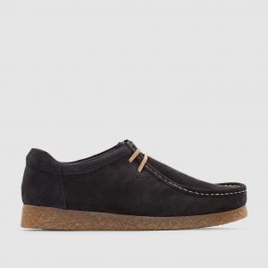 Ботинки-дерби кожаные  GENESIS BASE LONDON. Цвет: серо-коричневый