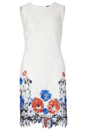 Кружевное платье Apart. Цвет: белый, разноцветный