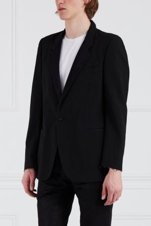 Шерстяной пиджак Libertine. Цвет: черный
