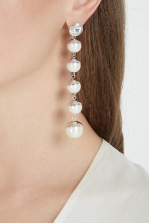Серьги с кристаллами Herald Percy. Цвет: белый, серебряный