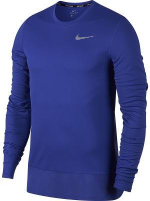 Лонгслив M NK BRTHE RAPID TOP LS Nike. Цвет: фиолетовый