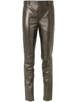 Skinny pants Tufi Duek. Цвет: металлический