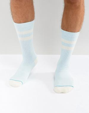 Stance Синие носки Crew. Цвет: синий