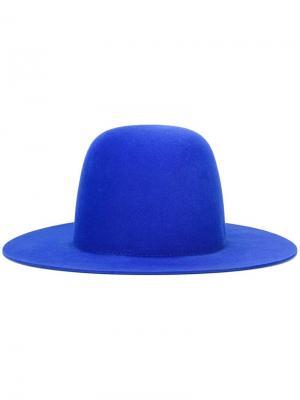 Широкополая шляпа Études. Цвет: синий