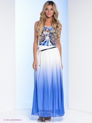 Сарафан Milana Style. Цвет: белый, синий