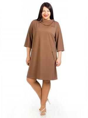 Платье Luxury. Цвет: коричневый