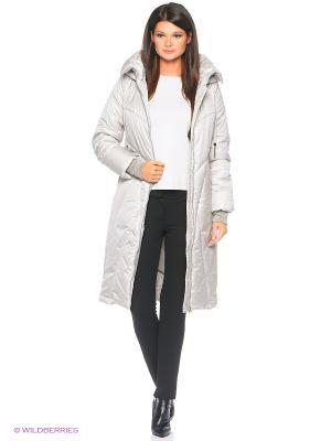 Стеганое пальто D`imma. Цвет: молочный