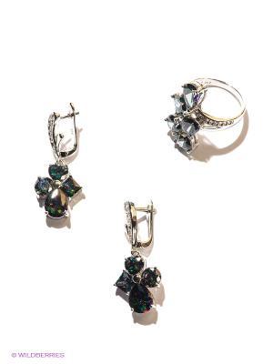 Комплект Lovely Jewelry. Цвет: серебристый, фиолетовый, зеленый