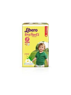 Libero Трусы детские одноразовые Драй Пэнтс экстра лардж плюс 16-26кг 42шт упаковка мега. Цвет: желтый