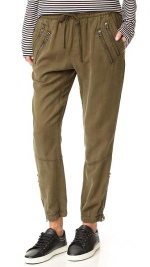 Спортивные брюки с молниями Pam & Gela. Цвет: плющ
