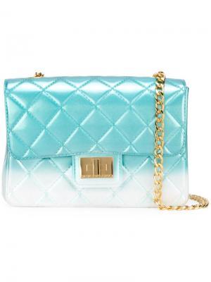 Стеганая сумка на плечо Milano Designinverso. Цвет: синий