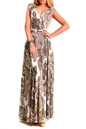 Платье LASKANY collezioni. Цвет: золотой