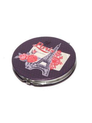 Зеркальце карманное Eleon. Цвет: темно-фиолетовый, розовый