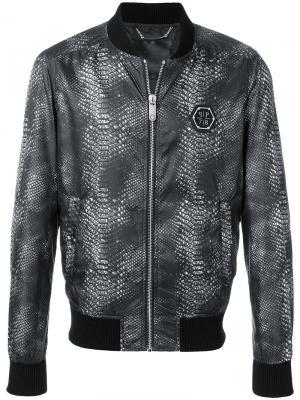 Куртка-бомбер In Down Philipp Plein. Цвет: чёрный