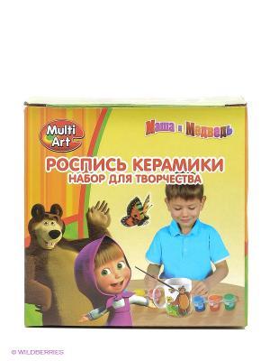 Кружка керамическая Маша и Медведь Играем вместе. Цвет: желтый