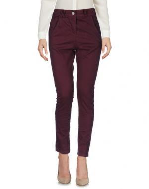 Повседневные брюки BOUTIQUE de la FEMME. Цвет: баклажанный